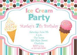 birthday invites wonderful ice cream birthday invitations design