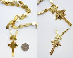 krus cards vintage krus cross crucifix necklace in brass in gold plated