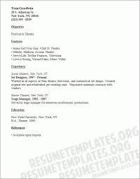 sample musical theatre resume musical theatre resume template
