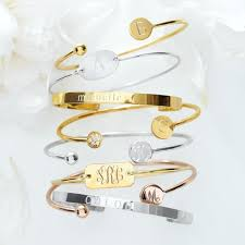 Monogram Bangle Bracelet Sarah Chloe Diamond Elle Jolie Bangle Mark And Graham