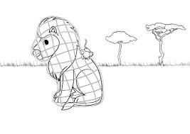 imagenes de ratones faciles para dibujar león y el ratón dibujo para colorear e imprimir