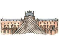 picture of louvre pyramid to color google search crafts for