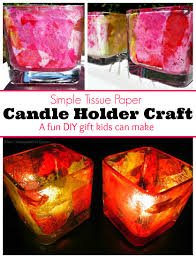 diy tissue paper candle holder craft where imagination grows