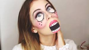Simple Halloween Doll Makeup Bella Youtube
