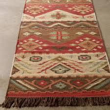 Kilim Rug Native Blanket Flatweave Wool Kilim Rug Shades Of Light