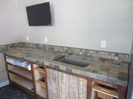 kitchen countertop tile ideas slate tile counter top installation time lapse image of