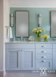 Recycled Bathroom Vanities by Gray And Blue Recycled Glass Countertops Cottage Bathroom