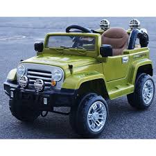 wrangler jeep green wrangler style ride on 12v jeep electric kids car with remote green