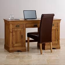 Office Desks Oak Farmhouse Rustic Solid Oak Office Desk Office Desks