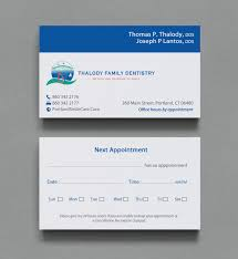 Dental Business Card Designs Serious Modern Business Card Design For Thomas Thalody By