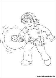 fireman sam coloring picture birthday fireman sam