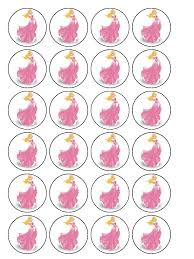 princess aurora cupcake topper pack 30