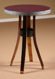 counter height bistro table attractive bistro counter height table wine barrel stave furniture