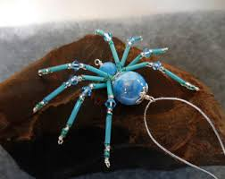 spider with spider legend beaded spider
