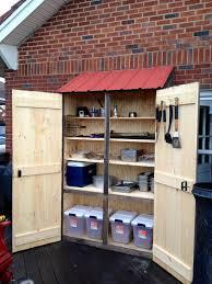 Outdoor Storage Cabinet Outdoor Storage Cabinet Wooden Cabinets Wood Plans Waterproof