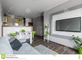 big tv in small living room stock photo image 73943087
