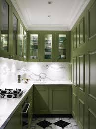 Crown Moulding Kitchen Cabinets by Kitchen Dark Green With Small Kitchen Also Glass Door Kitchen