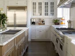White Kitchen Cabinets Oak Wood Floors  Quicuacom - Gourmet kitchen sinks