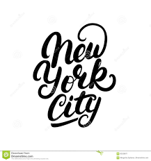 margarita drawing new york city hand written lettering stock vector image 83238871