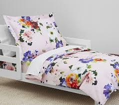 Duvet And Pillow Covers Organic Hannah Floral Toddler Duvet Cover Pottery Barn Kids
