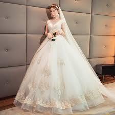 korean wedding dress wedding dress qi 2018 new korean wedding v neck thin