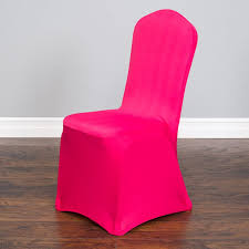 banquet chair cover economy stretch banquet chair cover fuchsia for weddings and events