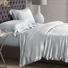 Premium Duvet Covers Platinum Silk Duvet Cover Double Size 289