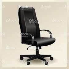 Leather Office Armchair Black Leather Office Armchair Vector Stock Vector Art 824553192