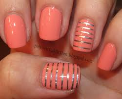 coral acrylic nails switched up what nails were the accents on