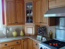 custom stained kitchen cabinets corner cabinet lift up door
