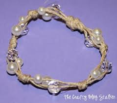 easy pearl bracelet images How to make a twine and pearl bracelet page 2 of 2 the crafty jpg