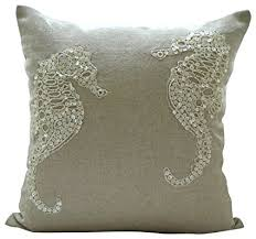 theme pillows designer ecru pillows cover sea and