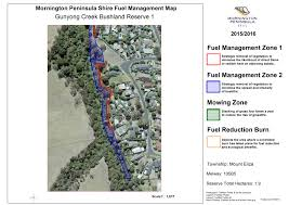 The Shire Map Fuel Management Maps Mornington Peninsula Shire