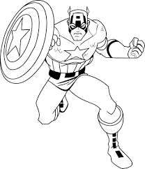 captain america coloring pages with shield fun coloring pages