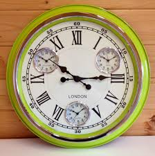 Garden Wall Clocks by London Multi Dial Wall Clock Lime Green Greens Home And Garden