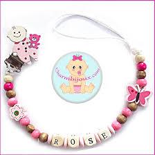 perle en bois pour attache tetine attache tetine personnalisable bebe motif ourson prénom bébé offert