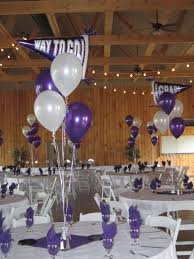 decorations for graduation graduation balloons in purple and white for an east granby