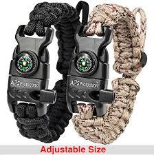 fire survival bracelet images Paracord bracelet k2 peak survival gear kit with embedded jpg