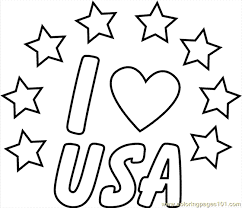 I Love Usa Clr Coloring Page Free Usa Coloring Pages Coloring Pages Usa