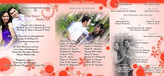 Example Of Wedding Programs Sample Of Wedding Invitation Reduxsquad Com
