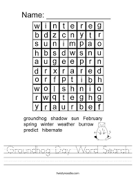 groundhog day word search worksheet twisty noodle
