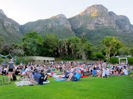 Botanic Gardens Open Air Cinema A Visit To The Galileo Open Air Cinema At Kirstenbosch