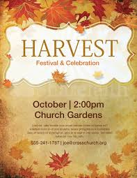 church harvest festival flyer template lords acre pinterest