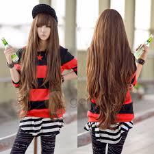 80cm new light brown wig harajuku long curly wig hair cosplay