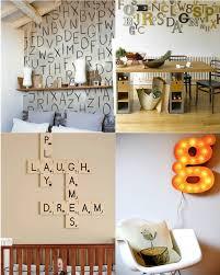 wall decoration letters home decor arrangement ideas vintage