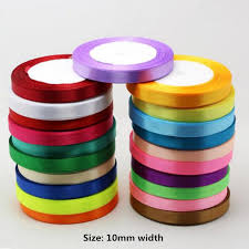 cloth ribbon 1cm 25 yard 22m colorful cloth satin ribbons wedding party