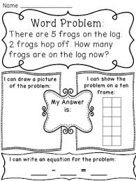 subtraction within 10 word problems worksheets teaching ks1