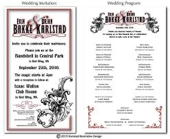 wedding invitation program wedding invitation and program layout design yelp