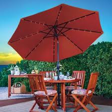 Solar Patio Umbrella 9 U0027 Double Top Solar Lighted Umbrella Improvements Catalog