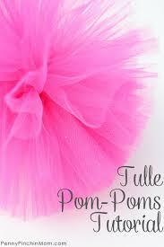 tulle pom poms diy tulle pom poms the easiest craft you ll make